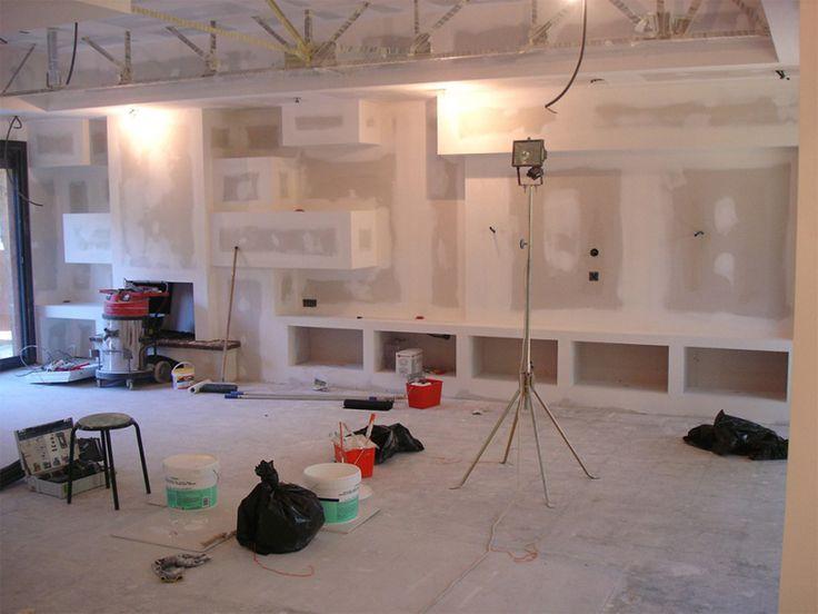 Travaux design placo d 39 int rieur maison pinterest for Salon maison et travaux