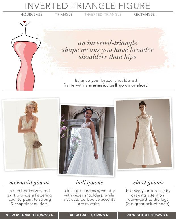 Wedding Dress Style - Inverted Triangle style wedding dresses Ball ...