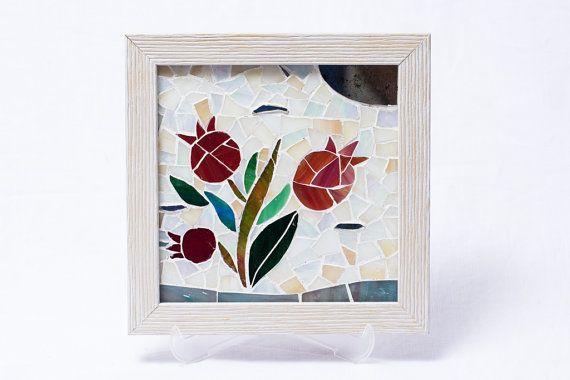 Nar by Olça Tansuk Wall Hanging Glass mosaic art by AtelierThalia
