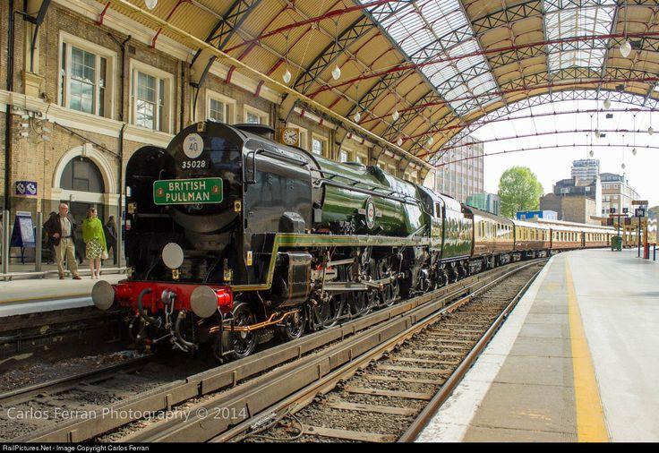 RailPictures.Net Photo: 35028 British Rail Steam 4-6-2 at London, United Kingdom by Carlos Ferran