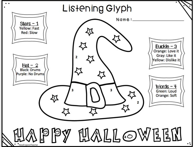 fall and halloween listening glyphs set - Halloween Glyphs