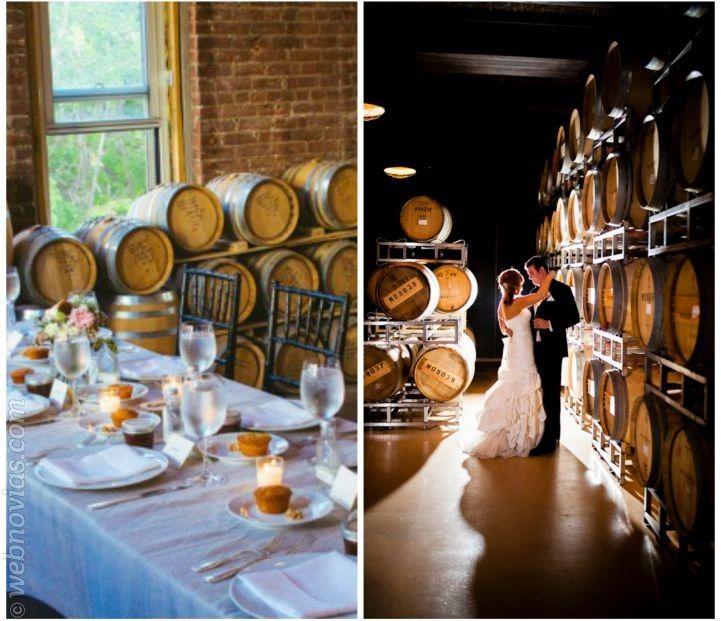 Decora la boda con barriles de madera