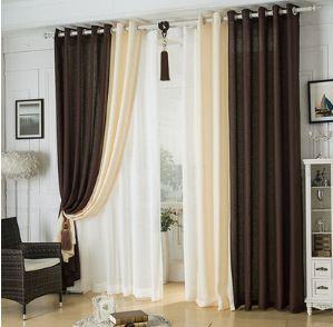 design europeu de alta qualidade janela cortina moderna cortina costura cores linho sala de estar cortinas