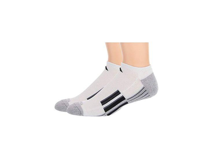 adidas Climalite (r) X II No Show Socken 2er-Pack Herren No Show Socken Schuhe Weiß / Heather Light Onix / Schwarz / Onix