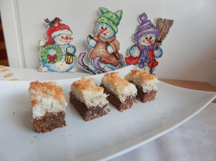 Fotorecept: Čokoládové kokosové rezy