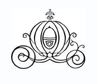 Cinderella pumpkin Carriage Outline | cinderella pumpkin cinderella tattoo ideas ring pillows pumpkin tattoo ...