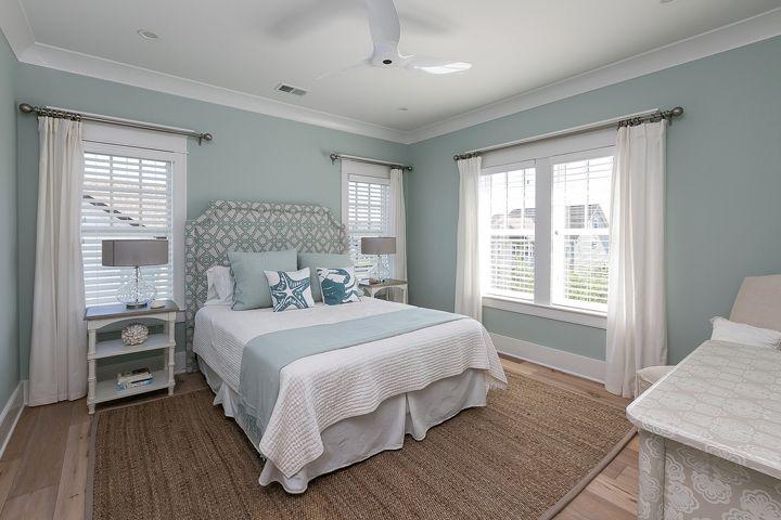 serene coastal bedroom   Mahshie Custom Homes
