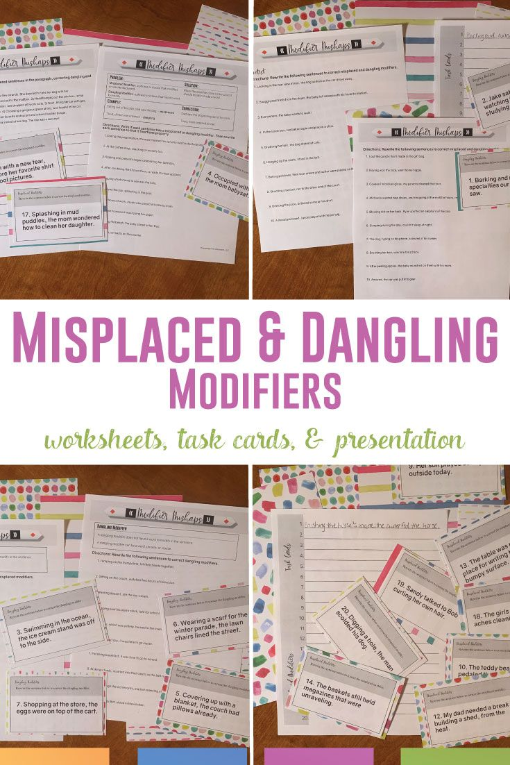 Dangling And Misplaced Modifiers Teaching Writing Misplaced Modifiers Middle School Language Arts Lessons [ 1102 x 735 Pixel ]