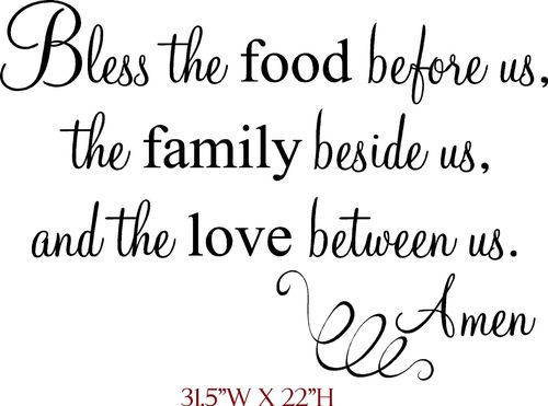 Wall Decal Bless The Food Before Us The By