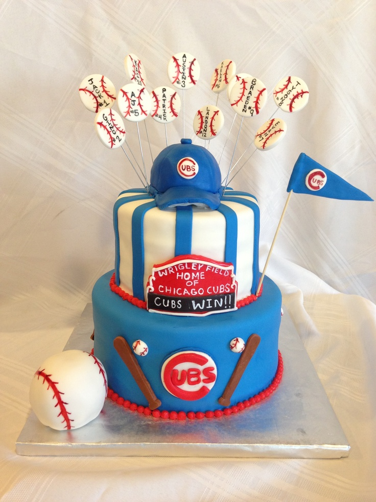 Cubs cake for lucky's birthday
