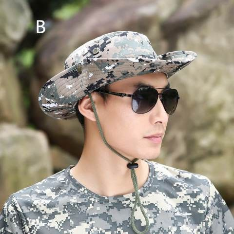 Outdoor camo fishing hats for men UV protection camouflage bucket hats
