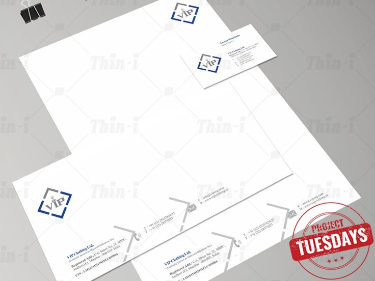 We re-branded VIP and rejuvenated their personality right from the #logo to their #stationary.