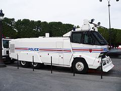 French National Police water cannon