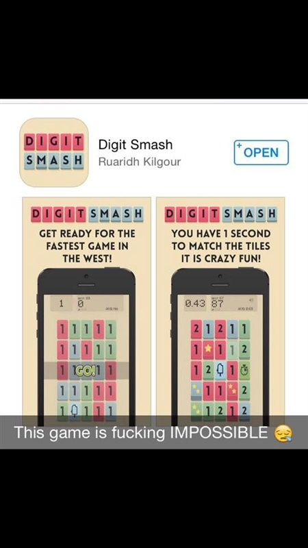 THIS GAME IS IMPOSSIBLE! One of the coolest apps on the AppStore right now Found here: https://www.digitsmash.com/
