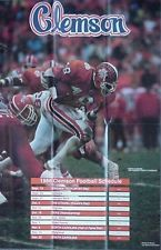 1986 CLEMSON TIGERS FOOTBALL POSTER/SCHEDULE (KENNY FLOWERS, TERRANCE ROULHAC +