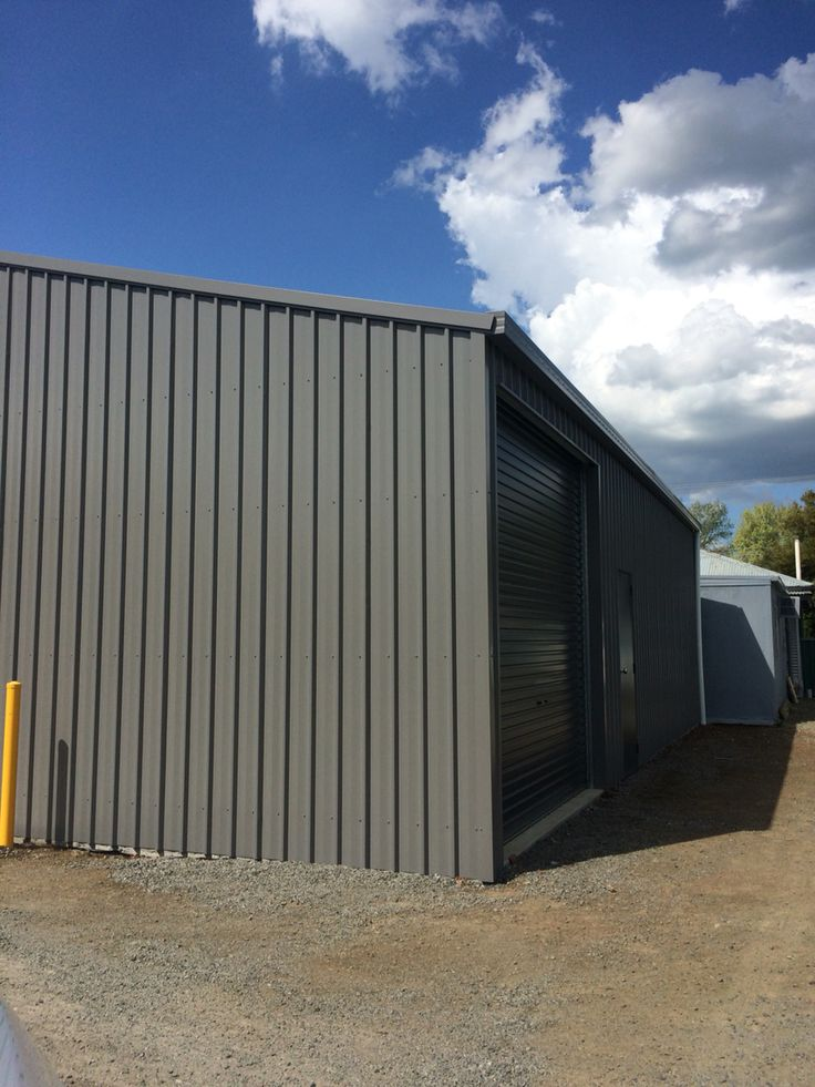 Ranbuild shed, view of the end wall, side wall. Also roller door, pa door. Built by Kieren Lee Plumbing & Construction 0428690696