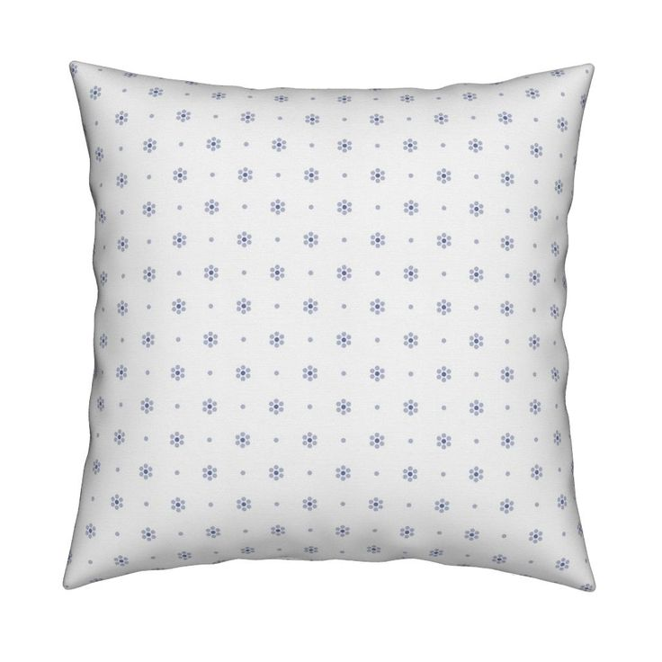 Catalan Throw Pillow featuring Lavender dotted flowers pattern by milagrosvita | Roostery Home Decor