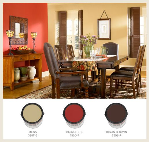 Autumn Bouquet Arts Crafts Inspired Interior Paint Color Palette From Behr