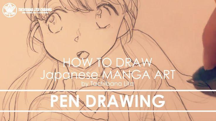 ✔ Pen Drawing   How to draw Manga Art 2018.01.18