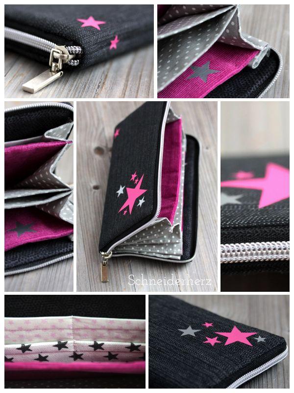 Machwerk Grete DIY Pink Stars Geldbeutel