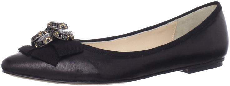 Adrienne Vittadini Women's Cointreau Flat, Black, 7 M US: Shoes $245.00