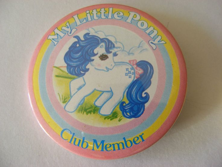 4 Vintage 1980s My Little Pony Badges