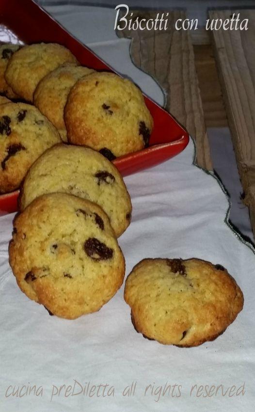 Biscotti con uvetta, ricetta, cucina preDiletta