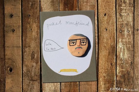 Gift Pocket Manfriend  Nicholas by MsSpanner on Etsy, £7.00