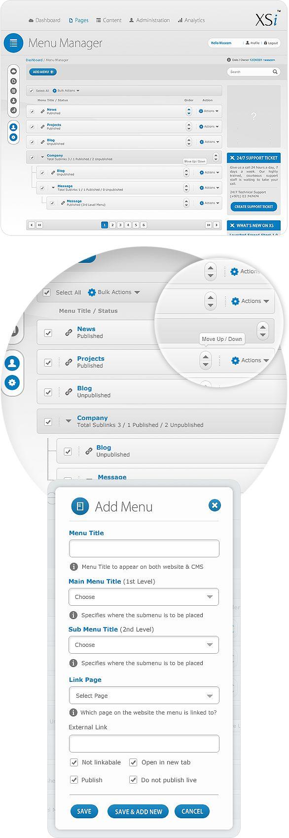 Content Management System (CMS) Admin Panel on Behance