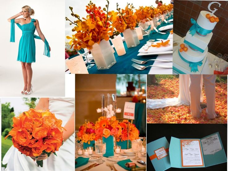 wedding decorations, orange, purple, turquoise | purple turquoise wedding | Reference For Wedding Decoration