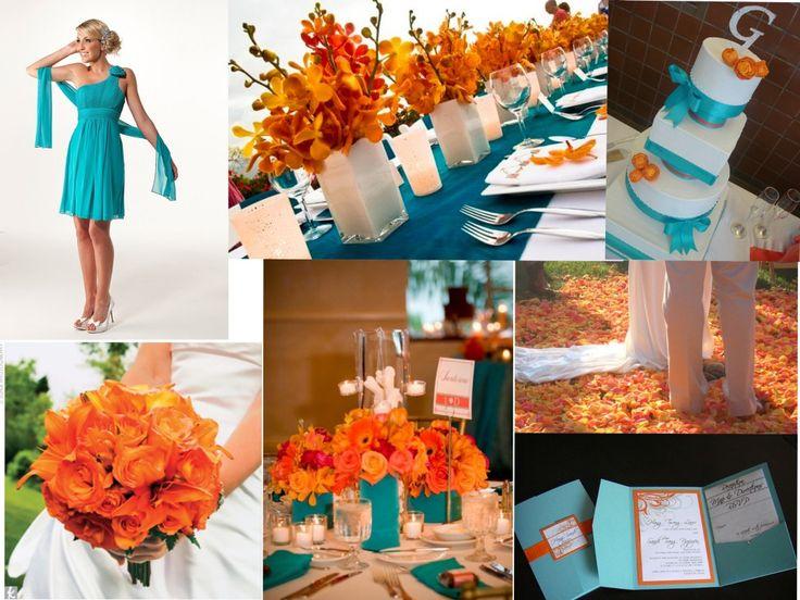 wedding decorations, orange, purple, turquoise | purple turquoise wedding | Reference For Wedding Decoration