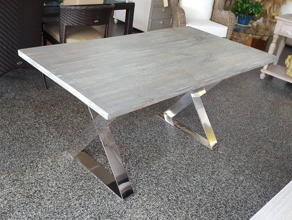 Sale Driftwood Distressed Dining Table Kitchen Table Dining Cafe Table Restaurant Table Steel Legs Distressed Dining Table Cafe Tables Restaurant Tables