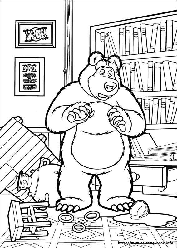 Mejores 14 imágenes de masha y el oso para colorear en Pinterest ...