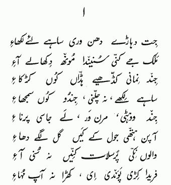 Complete Punjabi Poetry of Baba Farid with meanings of difficult words - Page 1. By APNA: Academy of the Punjab in North America