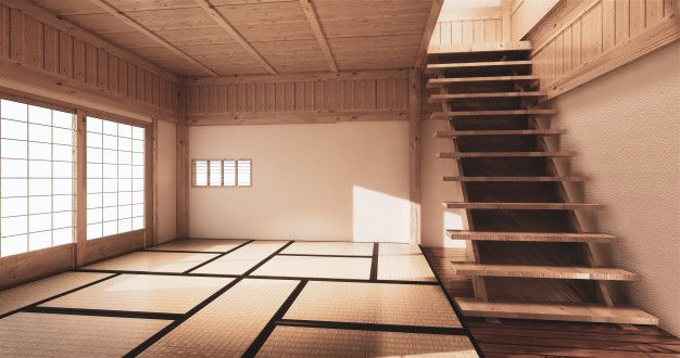 Mock Up Japanese Empty Room Tatami Mat Designing The Most Beautiful Empty Room Living Room Japanese Style Tatami Mat