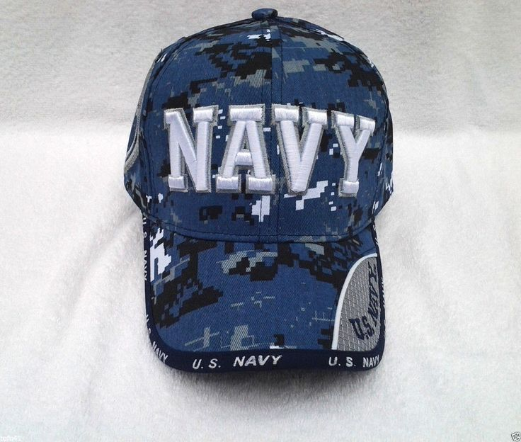 NAVY (BLUE DIGITAL) WEB TEXT US NAVY Military Veteran Hat 275 KN MT #BaseballCap