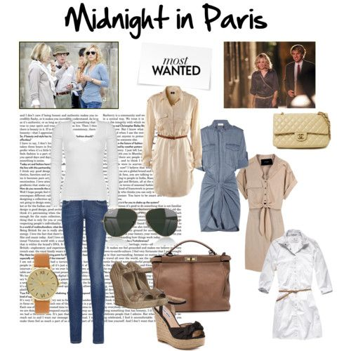 I loved Rachel McAdams' casual style in Midnight in Paris - belted shirtdresses that actually looked feminine, paired with wedges