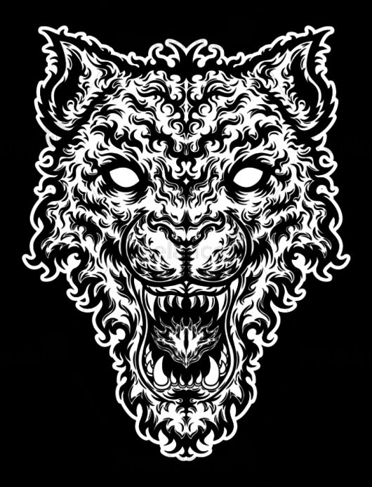 Design for tattoos, tiger. Buy Image for $ 14 #tattoo #tiger #design #graphics #creative #freelancediscount