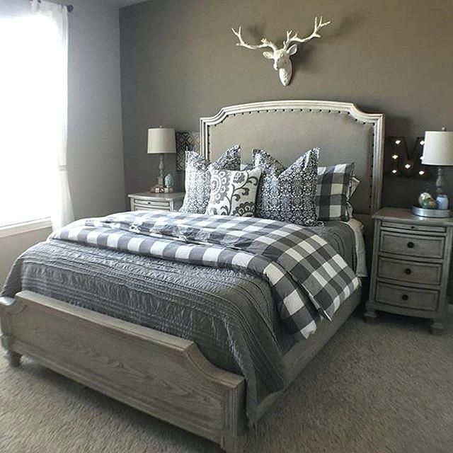 Plaid Bedroom Farmhouse Bedroom Buffalo Plaid Bedroom Decor Rustic Master Bedroom Home Decor Bedroom Modern Bedroom Decor