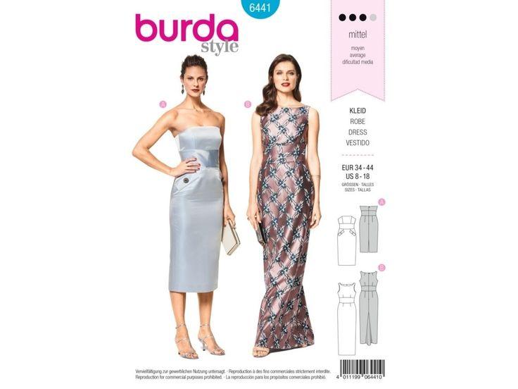 Sewing pattern evening dress, Burda 6441   tissus-hemmers.fr