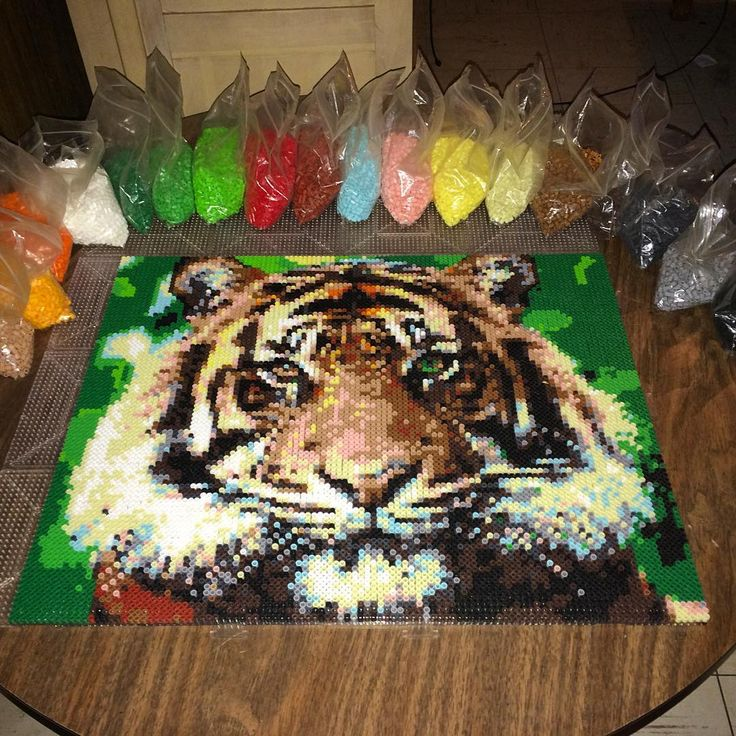 "493 Likes, 10 Comments - GEEKSGAMES👾🎨 (@thebeadartist) on Instagram: ""finally finished this tiger project, i was super busy with work so it took me about a week to…"""