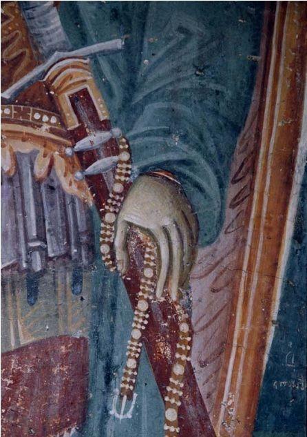 Sveti Dimitrije, detalj, crkva svetog Nikite, BJR Makedonija, XIV vek, zadužbina kralja Milutina