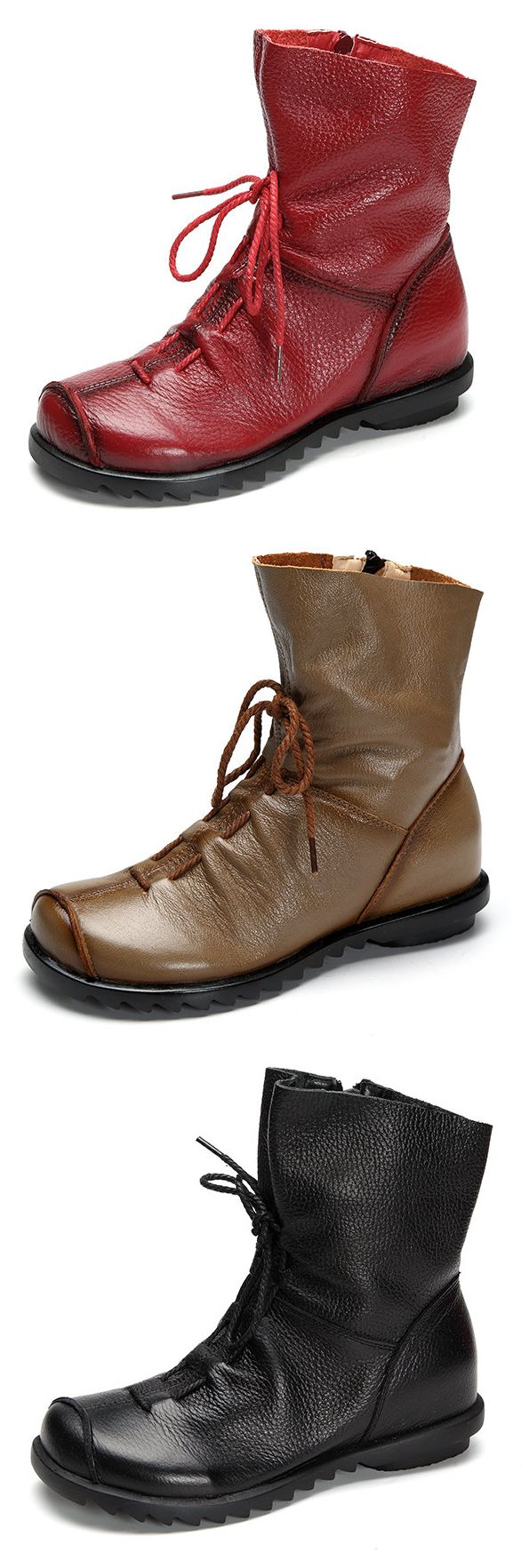 22 Best A New You Images By Usaa Shopping Discounts On Fileoutdoor Wiringjpg Wikipedia The Free Encyclopedia Us3259 Socofy Big Size Pure Color Lace Up Ankle Leather Comfortable Zipper Boots