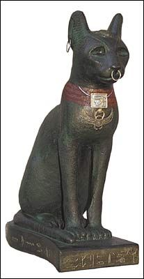 Bast Cat Egyptian Statue