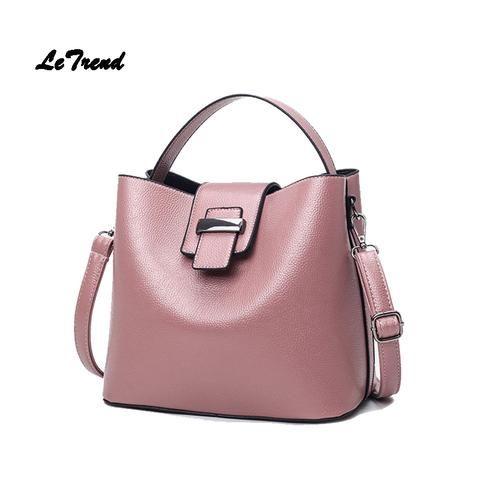 [EBay] Letrend Women Bag Fashion Bucket Women'S Handbags Solid Female Messenger Bag Leather Crossbody Bags Women'S Shoulder Bag