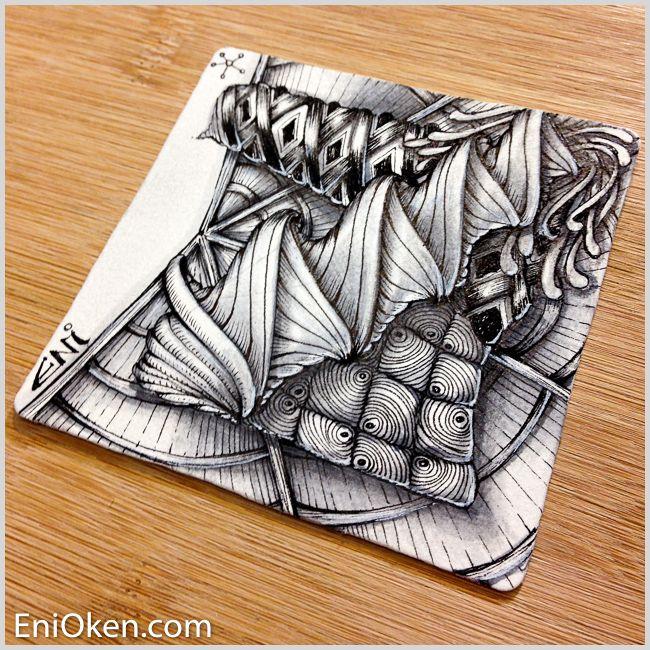 My newest tangle Prasima. Learn to create amazing Zentangle:registered: • enioken.com
