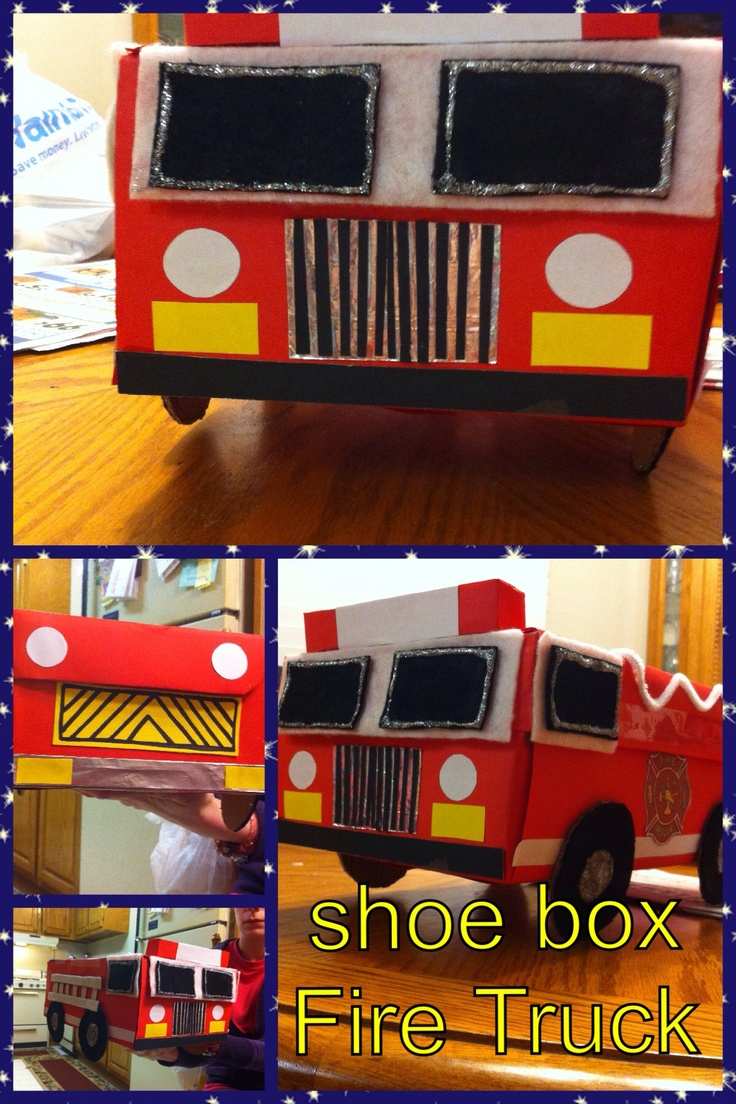 Toys toy boxes and fire trucks on pinterest - My Son S Kindergarten Valentine S Day Box He Insisted On Having A Fire Truck With