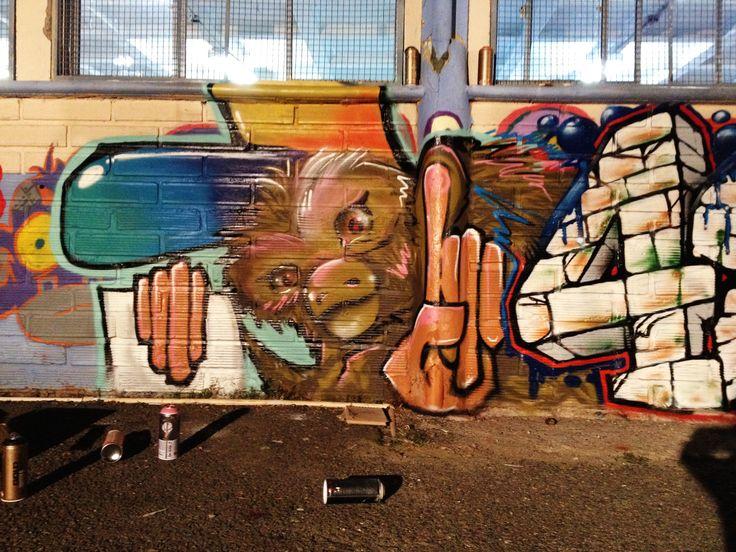 Monkey style  in 4 element school  #hiphop,#style,#kaligraficoz