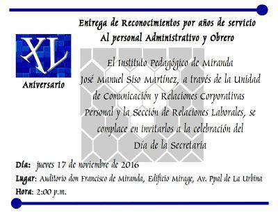 Noticias UPEL Miranda: Invitación al Acto de Entrega de Reconocimiento po...