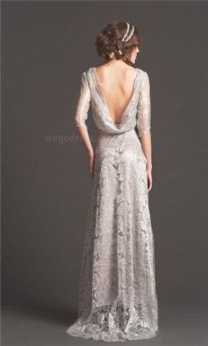 vintage wedding dress. Gorgeous in Grey